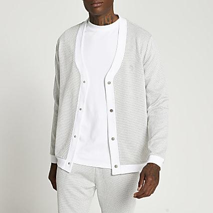Maison Riviera grey slim fit cardigan