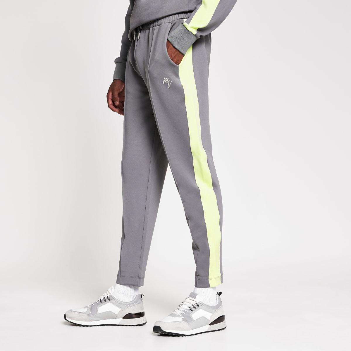 MaisonRiviera- Grijze slim-fit joggingbroek