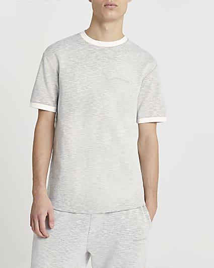 Maison Riviera grey slim space dye t-shirt