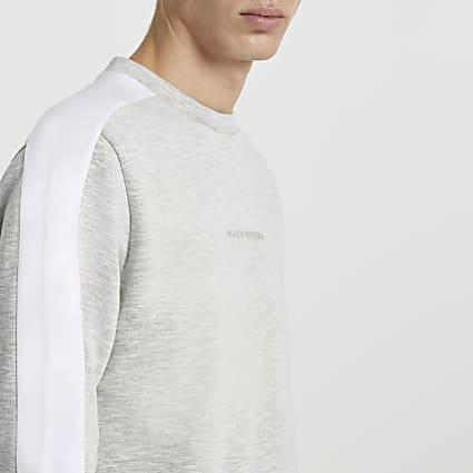 Maison Riviera grey space dye sweatshirt