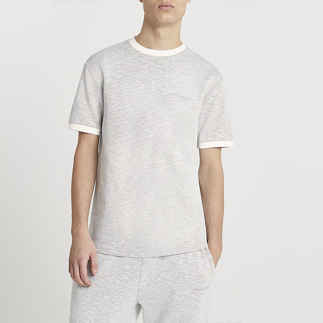 Maison Riviera grey space dye t-shirt