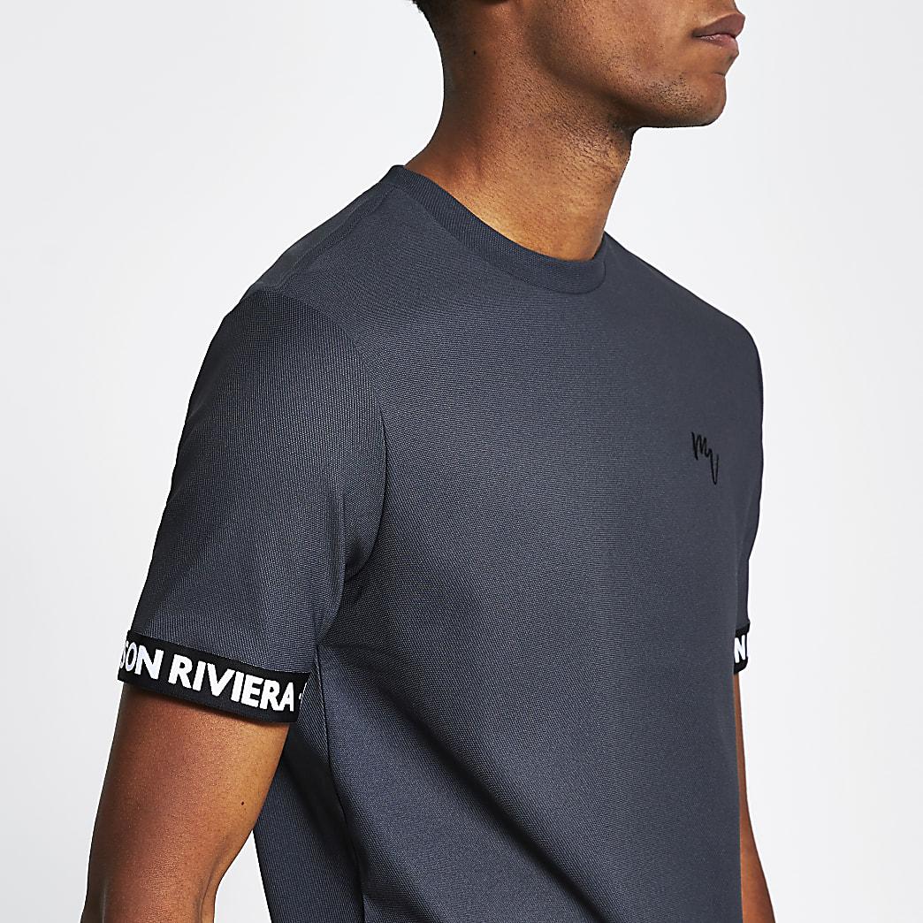 Maison Riviera grey tape slim fit t-shirt
