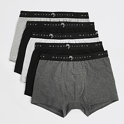Maison Riviera grey trunks 5 pack