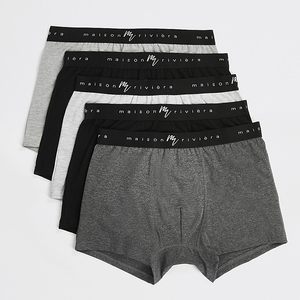 Maison Riviera grey trunks 5 pack