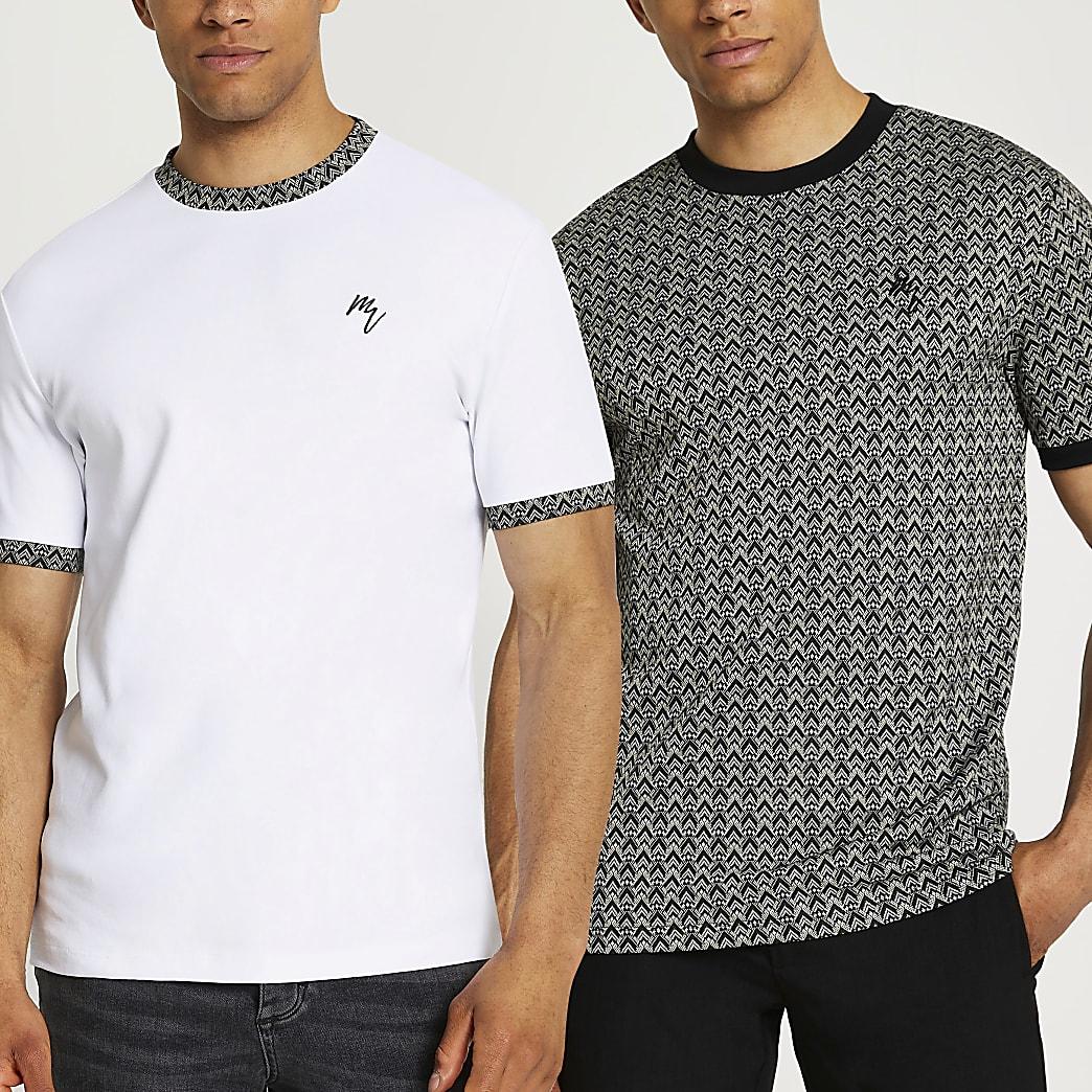 Maison Riviera jacquard t-shirts 2 pack