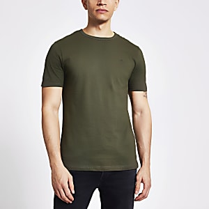 Maison Riviera – Slim Fit T-Shirt in Khaki