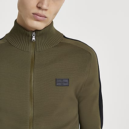 Maison Riviera khaki zip through jacket