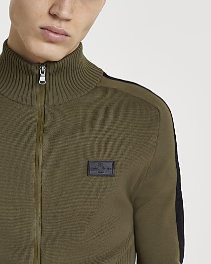 Maison Riviera khaki zip through jacket
