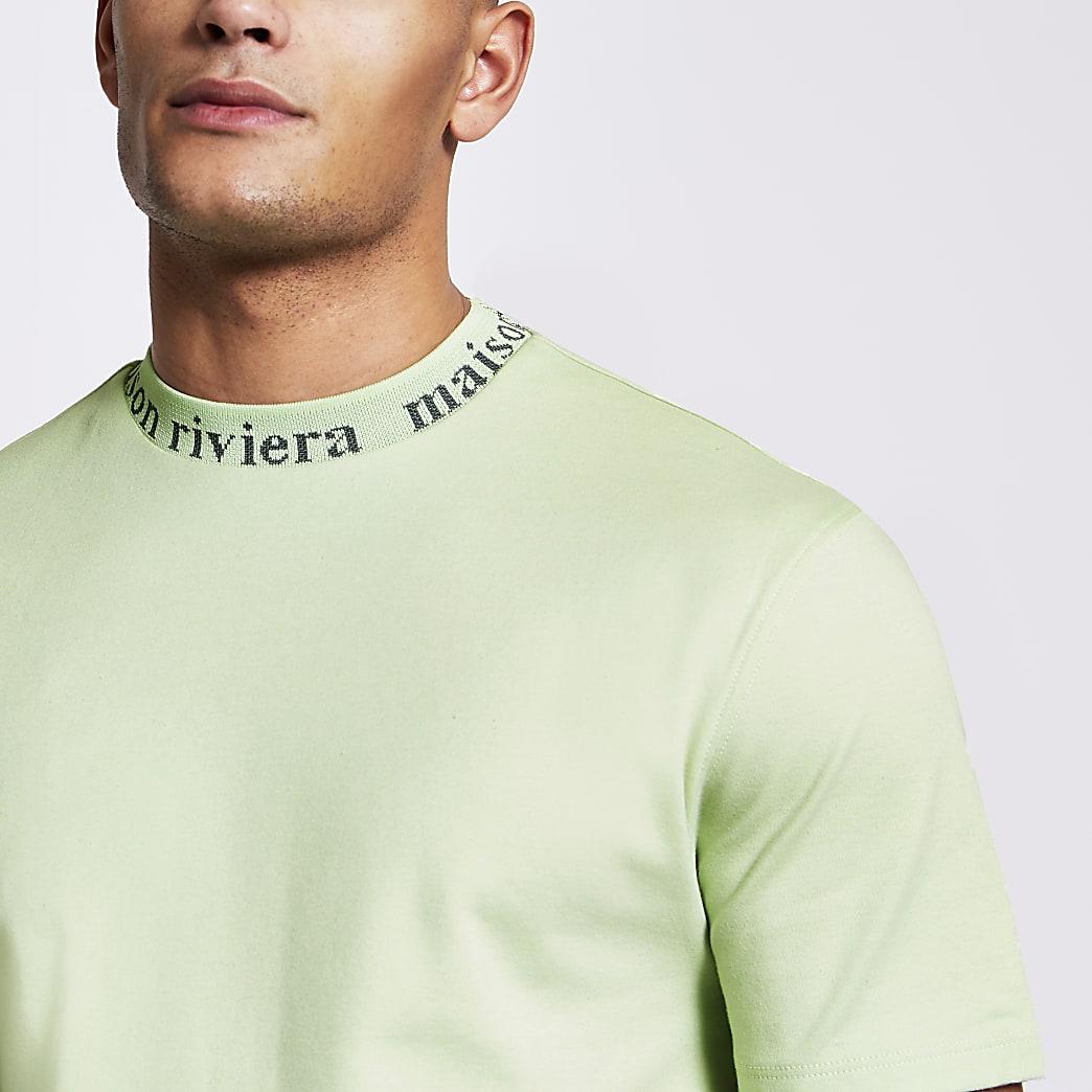 MaisonRiviera- Lichtgroen T-shirt met ronde hals