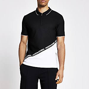Maison Riviera monochrome blocked polo top