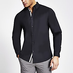 Maison Riviera navy long sleeve shirt