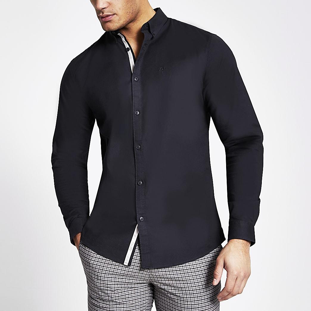 Maison Riviera - Marineblauw overhemd met lange mouwen