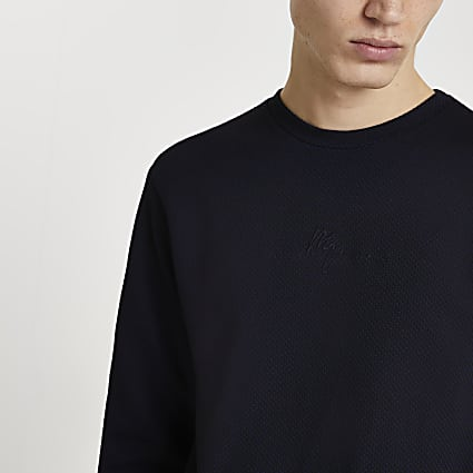 Maison Riviera navy long sleeve t-shirt