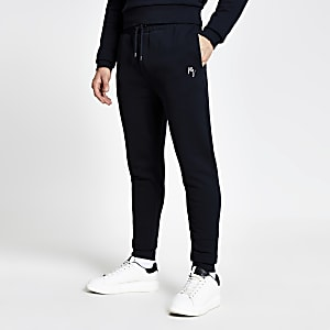 Maison Riviera – Pantalon de jogging slim bleu marine