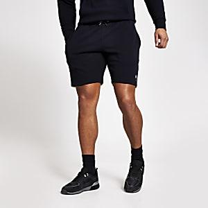 Maison Riviera – Marineblaue Slim Fit Shorts