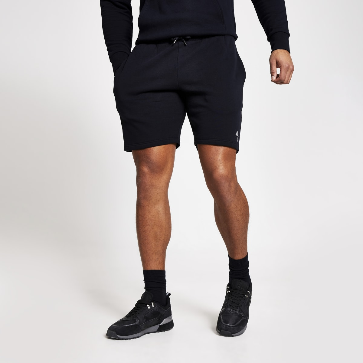 Maison Riviera - Marineblauwe slim-fit shorts