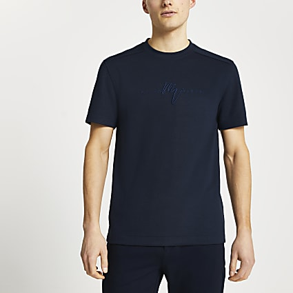 Maison Riviera navy slim fit t-shirt
