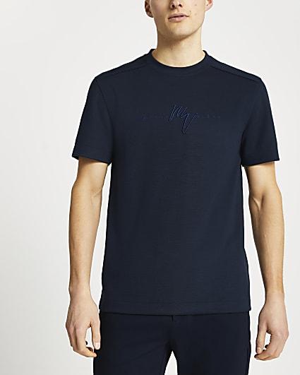 Maison Riviera navy slim fit t-shirt
