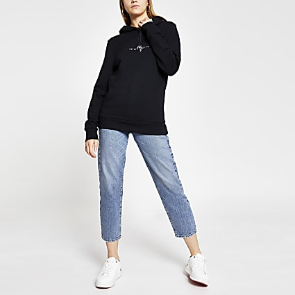 Maison Riviera navy slim long sleeve hoody