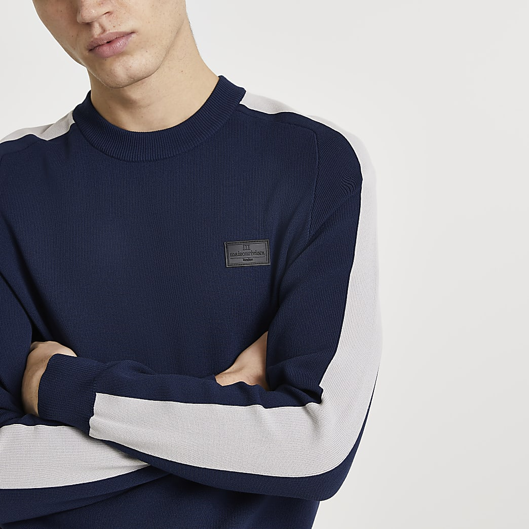 Maison Riviera navy sweatshirt