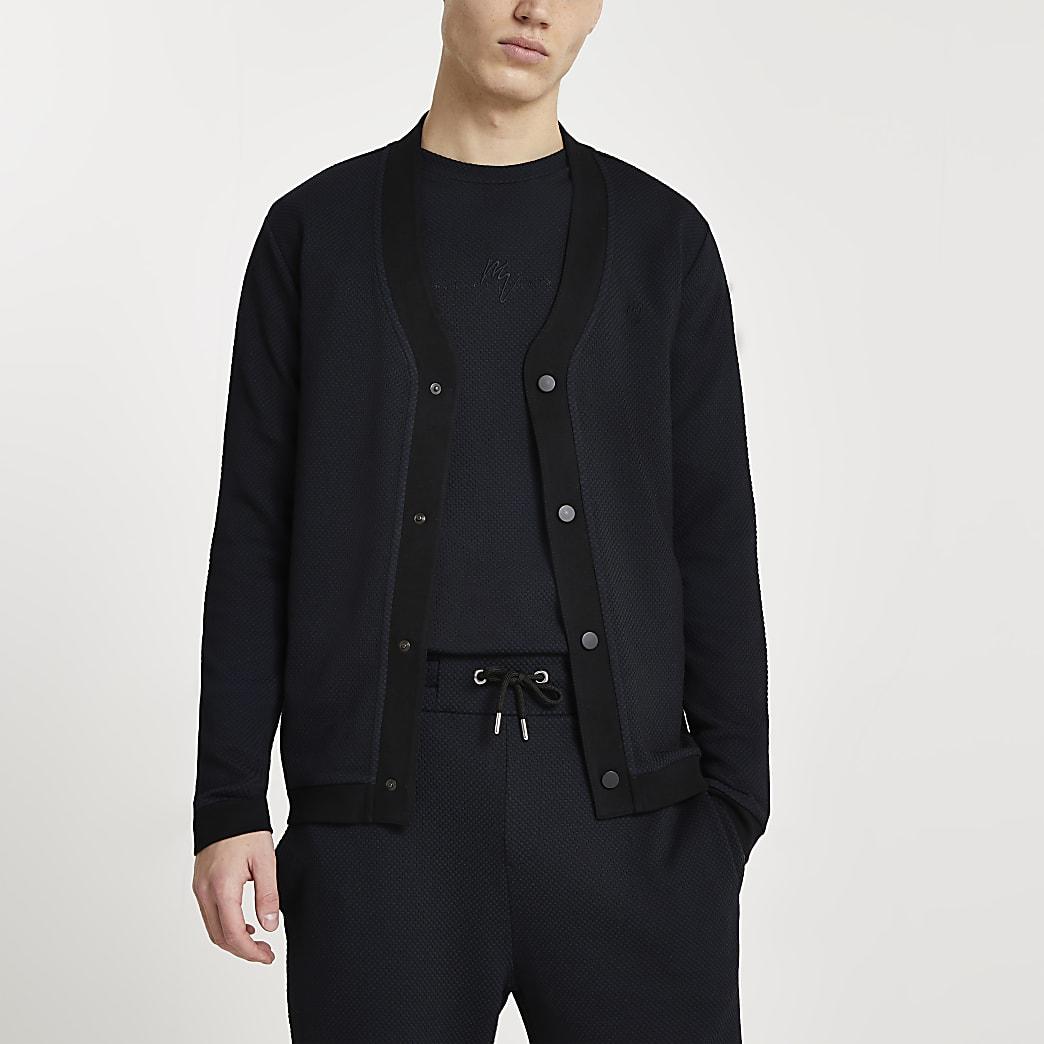 Maison Riviera navy textured cardigan