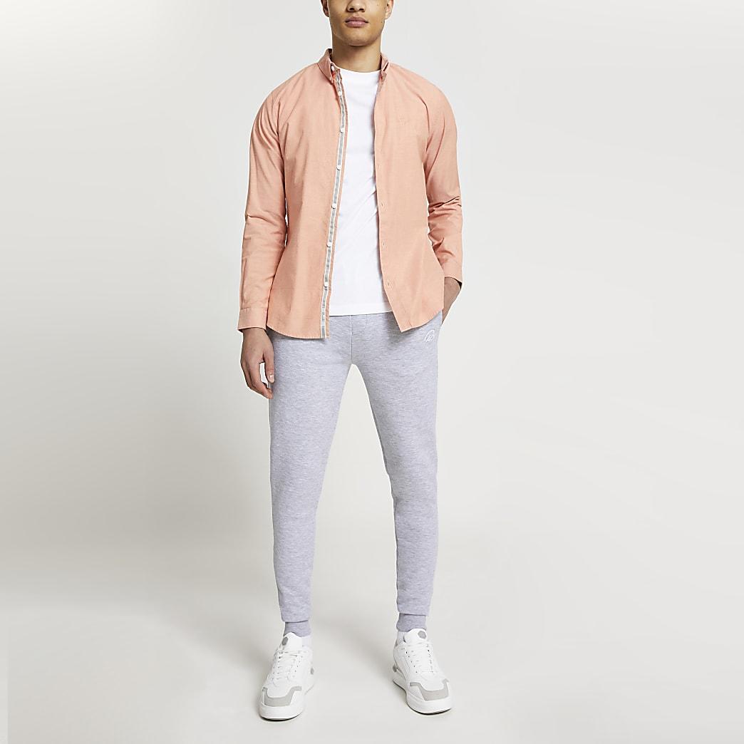 Maison Riviera orange slim fit oxford shirt