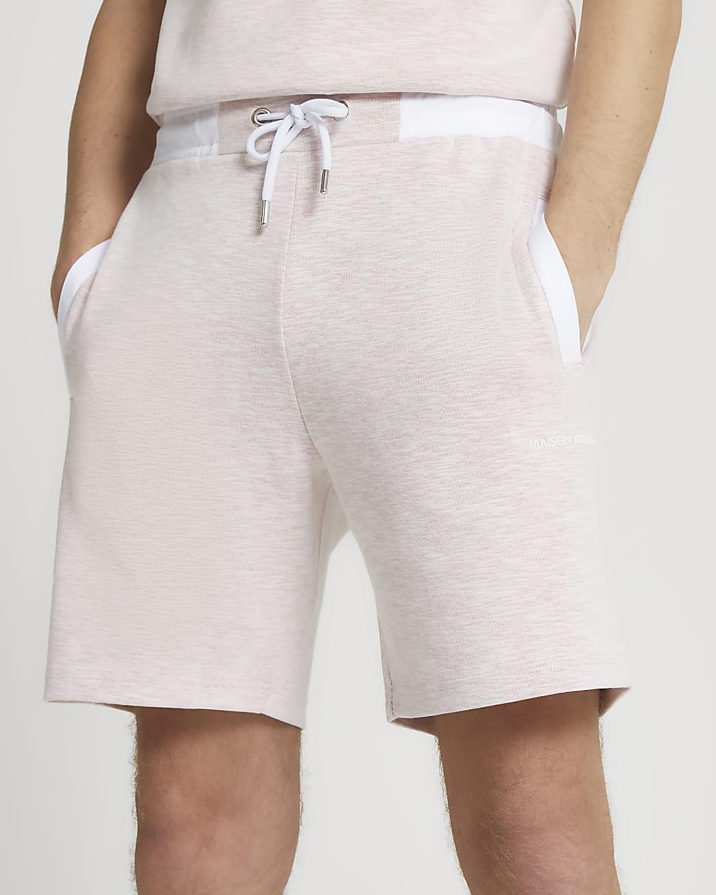 Maison Riviera pink space dye slim fit shorts