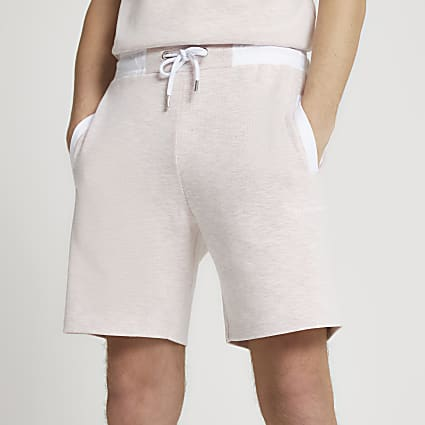Maison Riviera pink space dye slim fit shorts