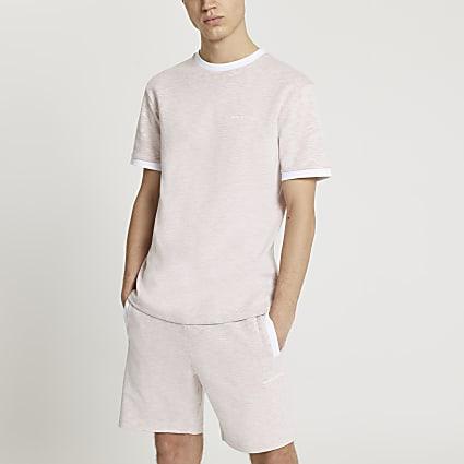 Maison Riviera pink space dye t-shirt