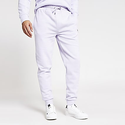 Maison Riviera purple slim fit joggers