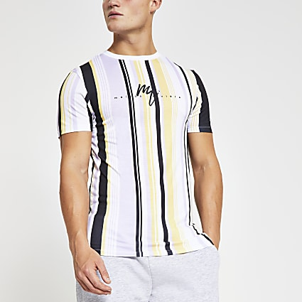 Maison Riviera purple stripe muscle T-shirt