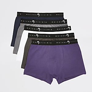 Maison Riviera- Paarse strakke boxers set van5