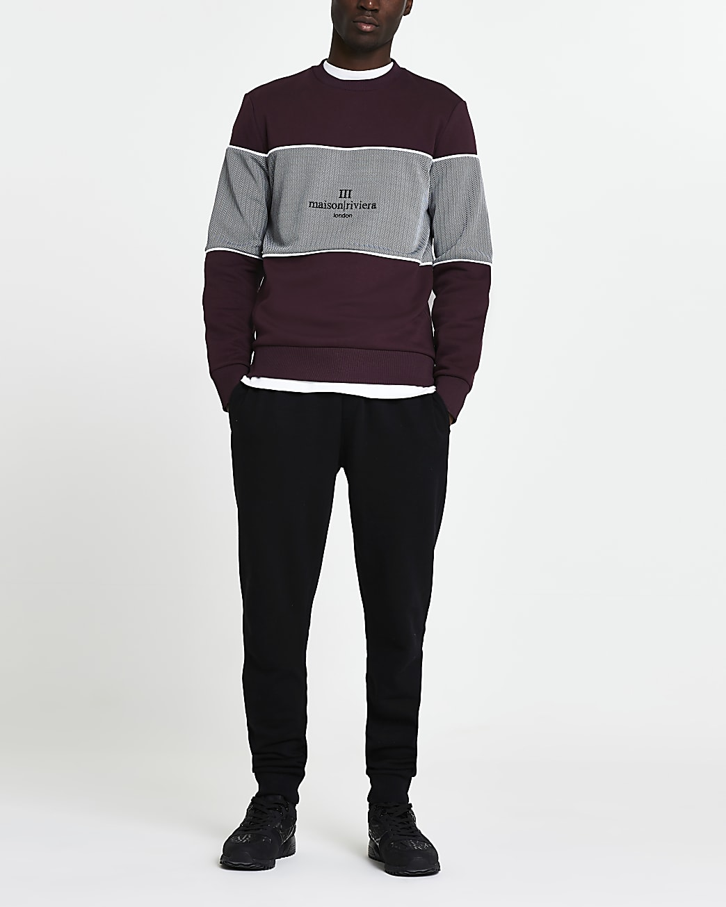 Maison Riviera red slim fit sweatshirt