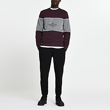 Maison Riviera red slim fit sweatshirt
