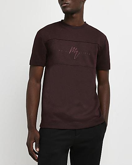 Maison Riviera red slim fit t-shirt