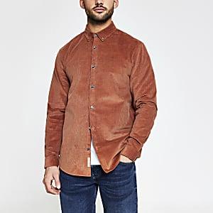 Maison Riviera - Roestbruin corduroy overhemd