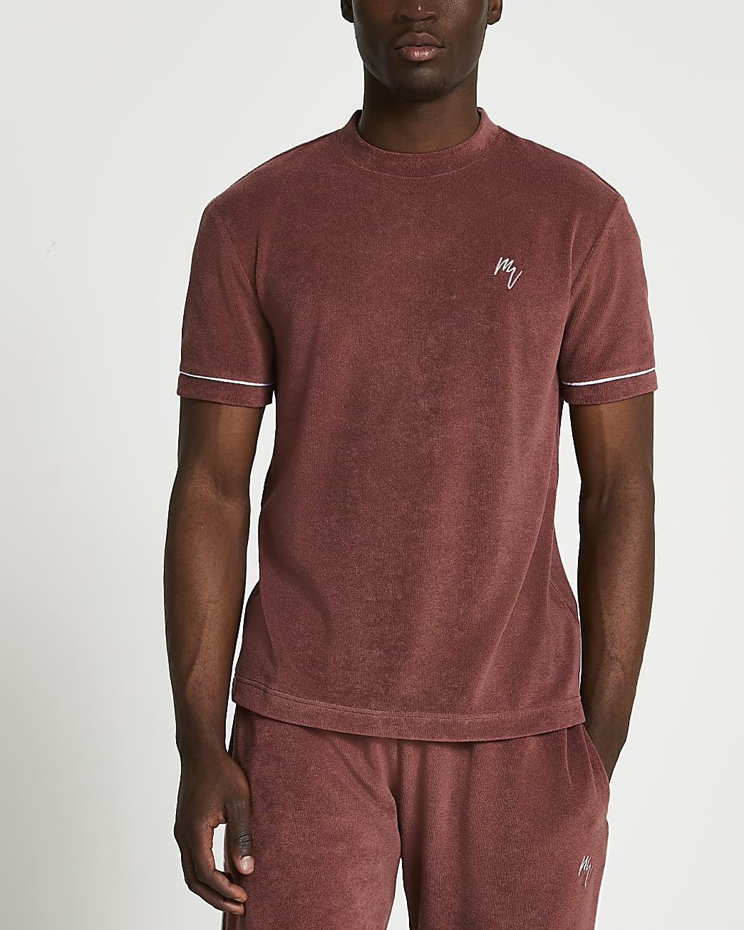 Maison Riviera rust slim towelling t-shirt