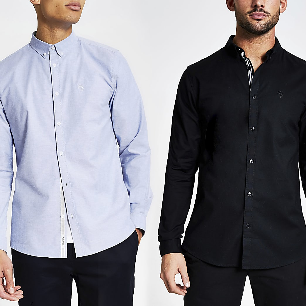Maison Riviera slim fit Oxford shirt 2 pack