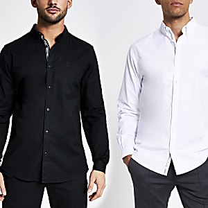 Maison Riviera– Slim Fit Oxford-Hemd, 2er-Pack