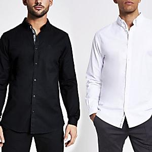 Maison Riviera– Lot de 2 chemises Oxford slim