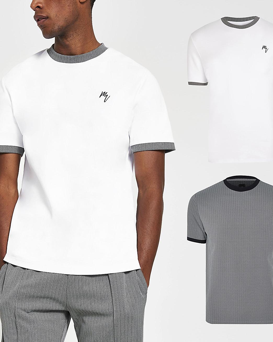 Maison Riviera slim fit t-shirt 2 pack