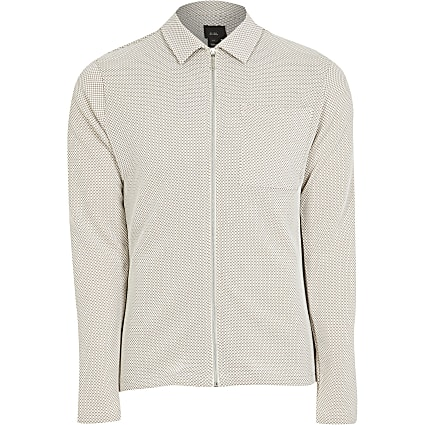 Maison Riviera slim fit textured overshirt
