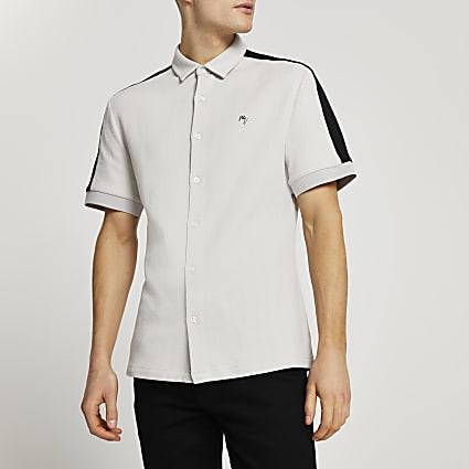 Maison Riviera stone short sleeve shirt
