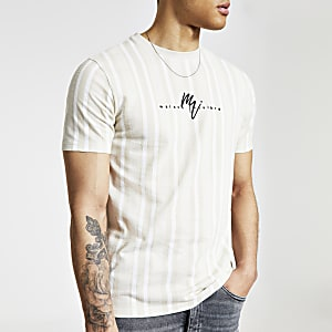 Maison Riviera stone stripe slim fit T-shirt