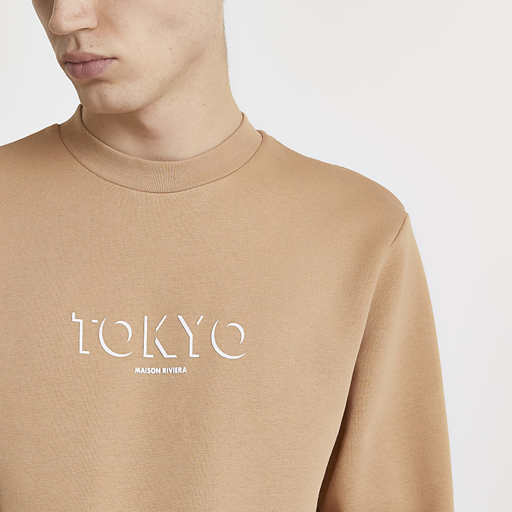Maison Riviera stone Tokyo print sweatshirt