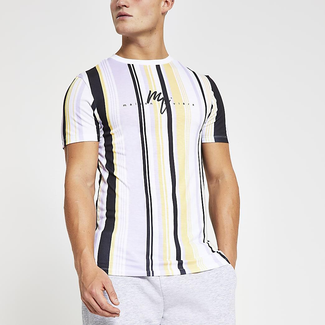 Maison Riviera stripe muscle fit T-shirt