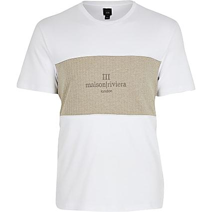 Maison Riviera white block T-shirt