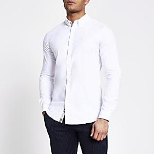 Maison Riviera - Wit overhemd met lange mouwen