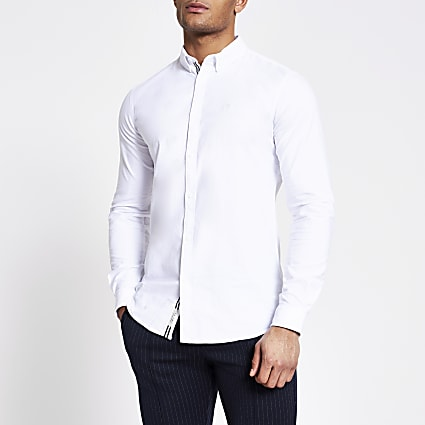 Maison Riviera white long sleeve shirt