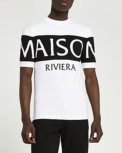Maison Riviera white muscle fit t-shirt